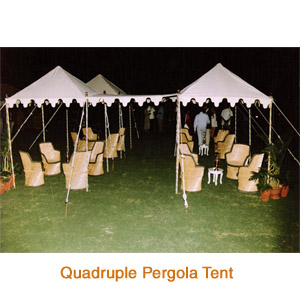 Quadruple Pergola Tent
